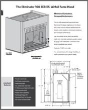 Eliminator 100 SERIES Airfoil Fume Hood