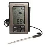 thermometre a viande cable accu temp avec sonde en acier inoxydable