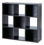 etagere de rangement a 9 cubes for living chene noir