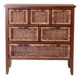 grand meuble for living en osier fonce