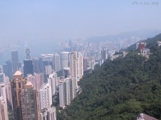 View from the Peak over Hong Kong