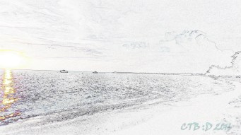 Just for fun -Pencil drawing of the beach