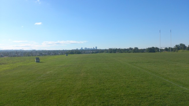 The Calgary skyline from the site of my interview with Ultimate Rob