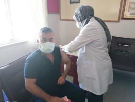 Çan'da Pazar yerine aşı noktası kuruldu