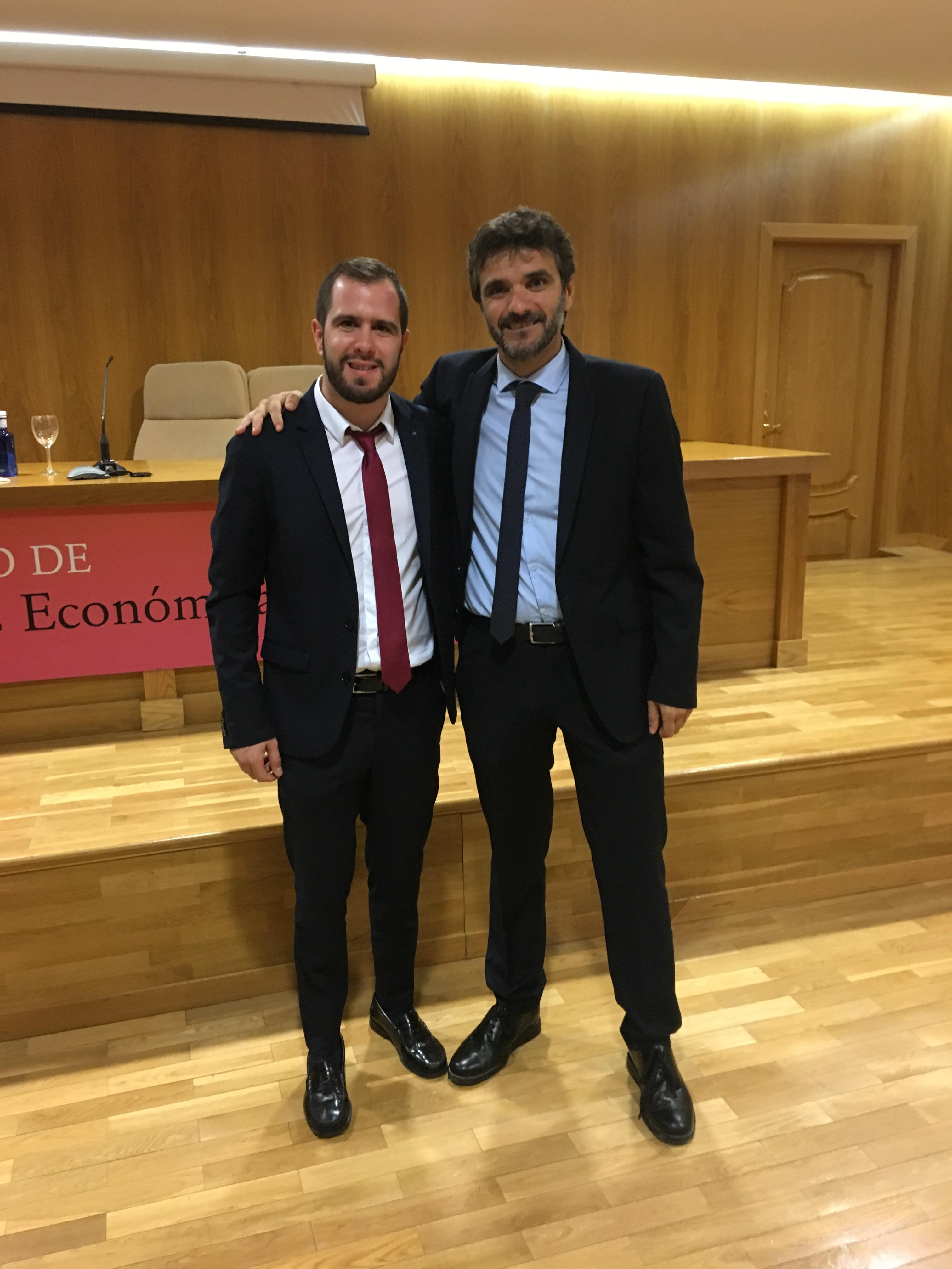 Los investigadores de la UGR Juan Sánchez Fernández y Luis Alberto Casado Aranda, autores de este trabajo