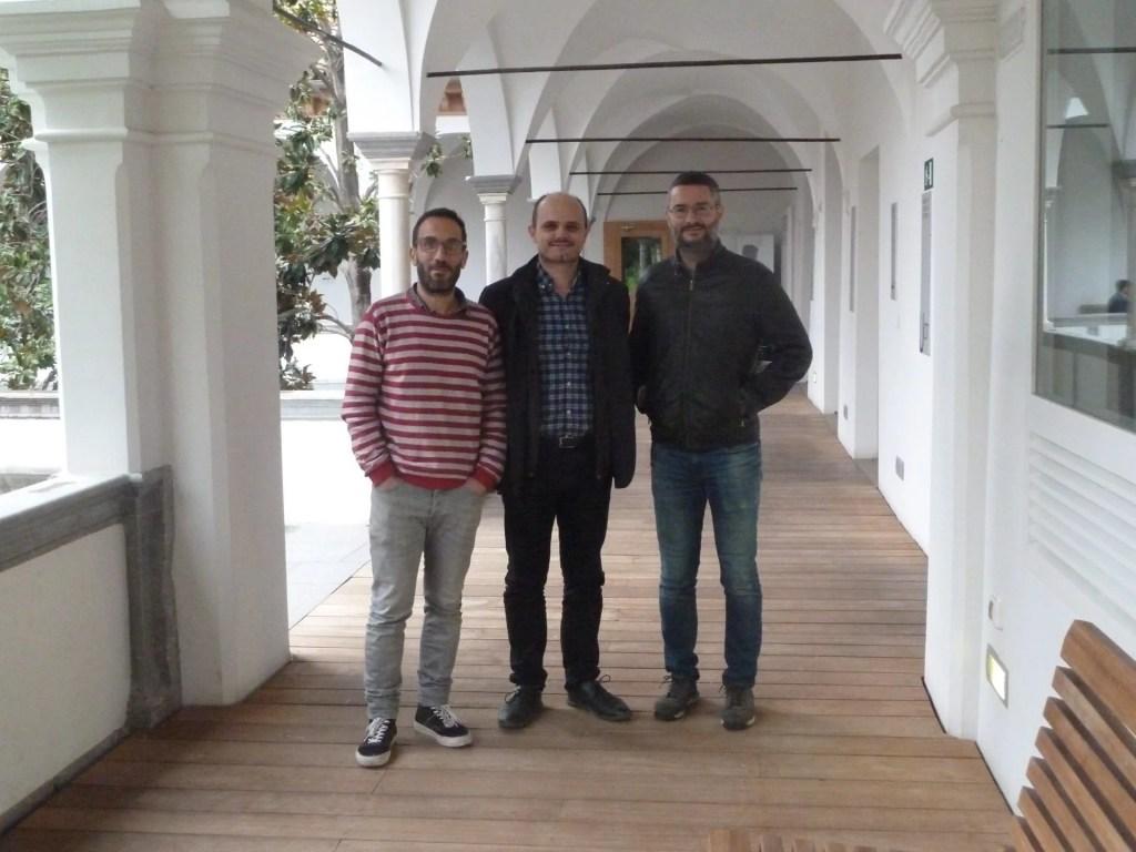 Autores de la publicación, de izquierda a derecha: Rubén Mora, Francisco J. Abarca y Sergio Campos
