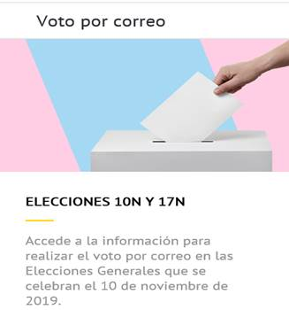 Elecciones Generales 10-N: ¿Cómo solicitar el voto por correo de forma telemática?
