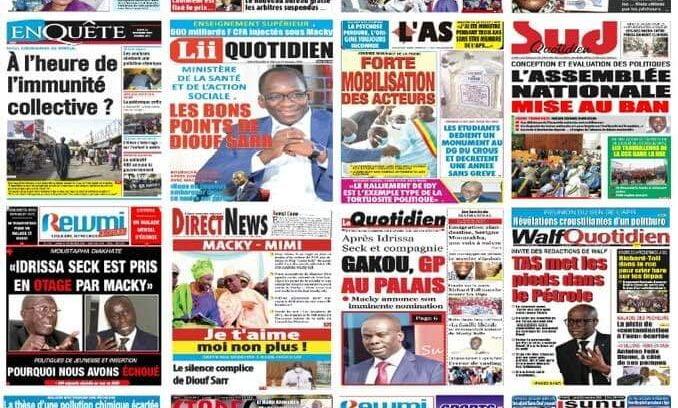 Image d'illustration Revue de presse Sénégal.