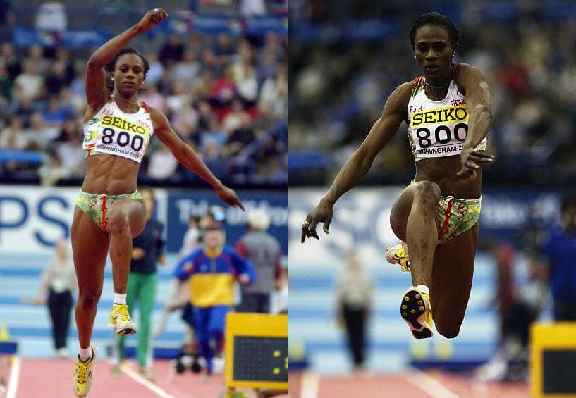 L'athlète Kene Ndoye en course.