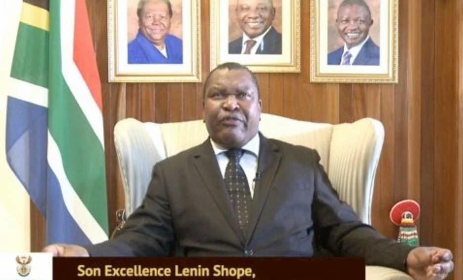 Lenin Shope, ambassadeur de l'Afrique du Sud à Dakar.