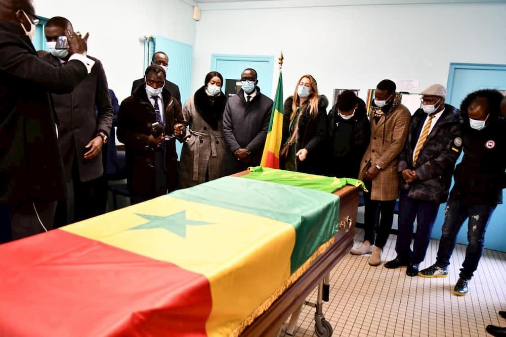 Image Levée de corps de Pape Bouba Diop en France.