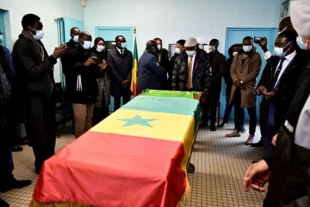 Photo Levée de corps de Pape Bouba Diop en France.