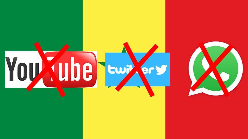 Sénégal blogage des réseaux sociaux