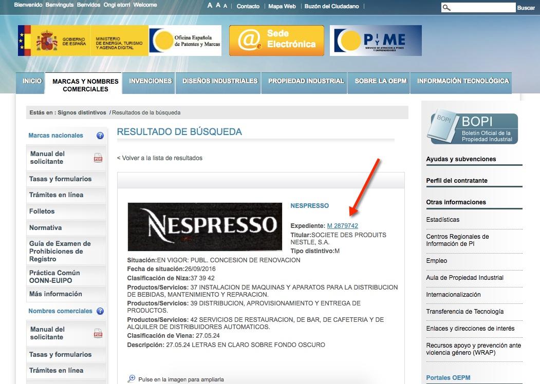 Registro Marca Amazon - Oficina Española Patentes y Marcas