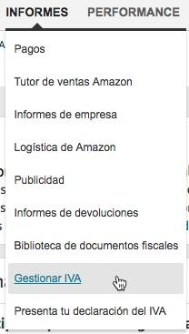 Activar Servicios fiscales Amazon