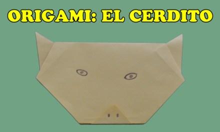 Origamis de Papel, Origami Facil de Papel para Niños El Cerdito
