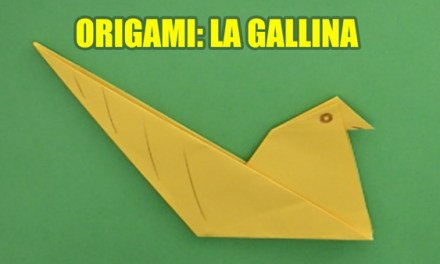 Manualidades de Papel, Origami Facil de Papel para Niños La Gallina