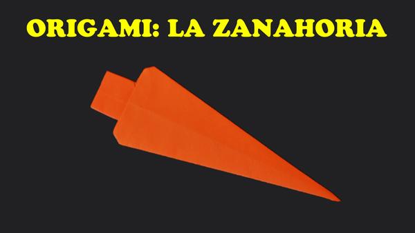 Origami para Niños Facil La Zanahoria