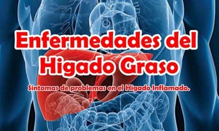 Enfermedades del Higado Graso, Sintomas de problemas en el Higado Graso e Inflamado