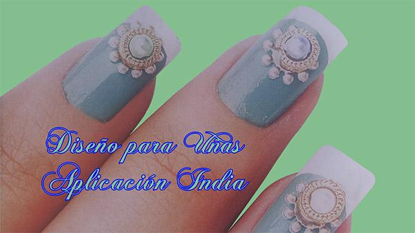 Fotos o Imagenes de Uñas Decoradas, Manicure, Diseño de Uñas Aplicacion India paso a paso 20