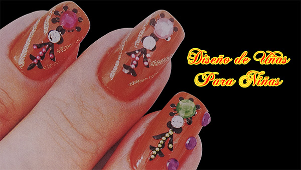 Fotos o Imagenes de Uñas Decoradas, Manicure, Diseño de Uñas Para Niña o Adolescentes paso a paso 23
