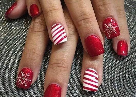 Uñas Decoradas de Navidad 5