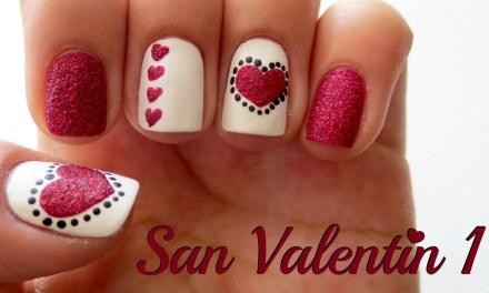 Diseño de Uñas para San Valentin 1