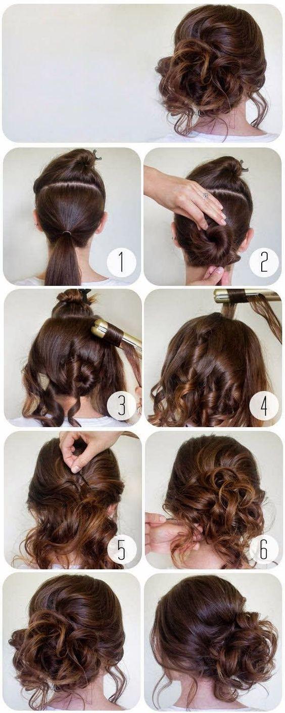 Peinados con pelo recogido paso a paso