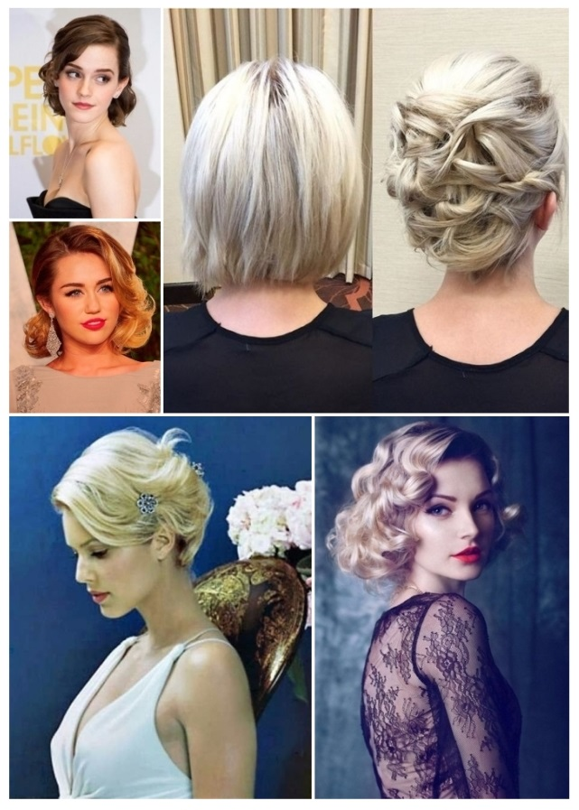Peinados de noche cabello corto