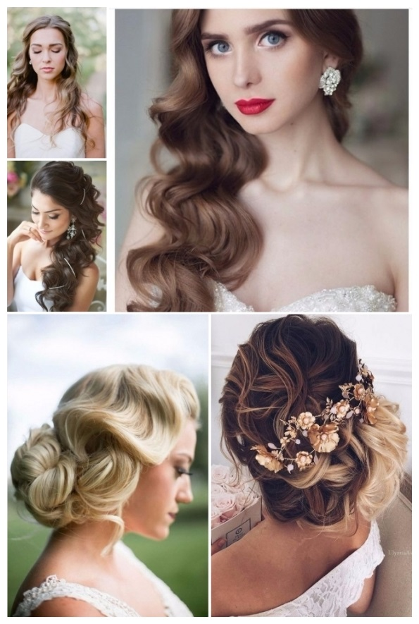 peinados de novia cabello ondulado