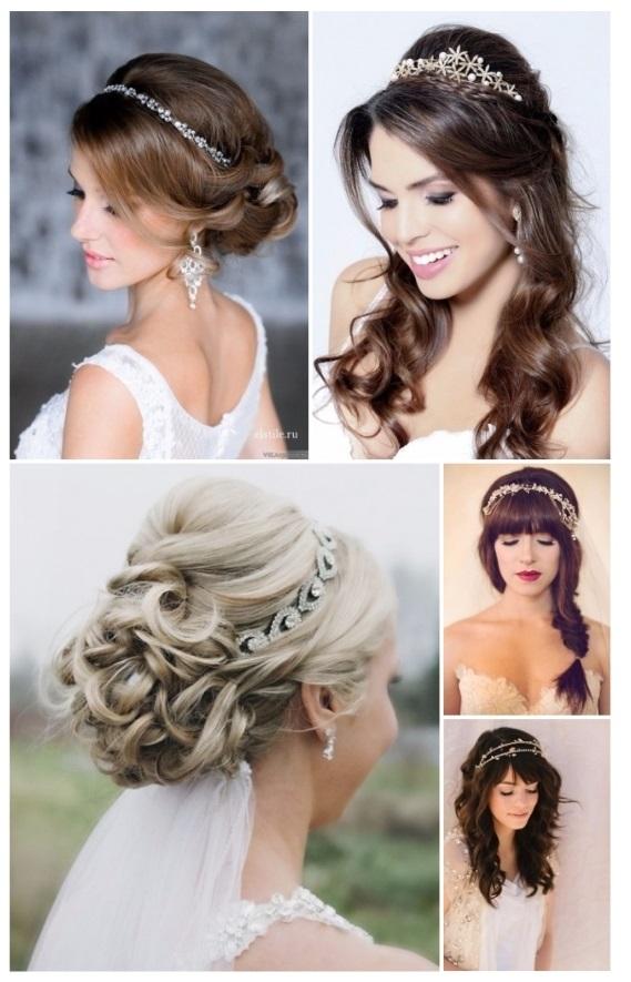 Peinados novia con tiara