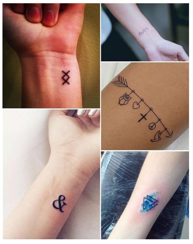 Diseños de tatuajes para mujeres de símbolos