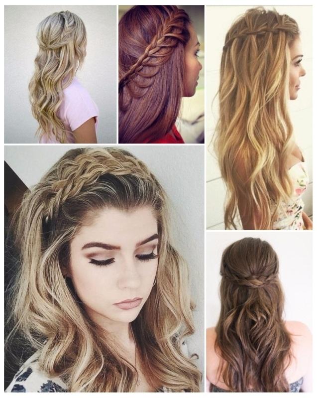 Peinados para graduacion cabello largo con trenzas