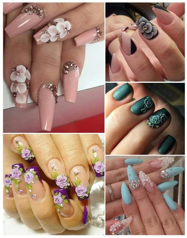 Como hacer uñas con flores 3D paso a paso