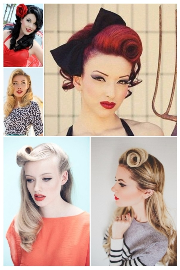Peinados pin up con pelo corto