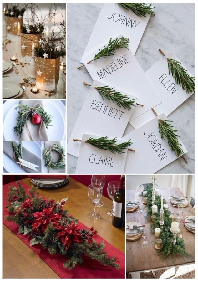 ideas de como decorar la mesa para Navidad