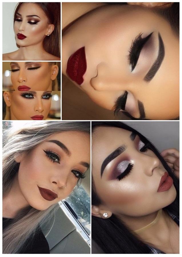 imágenes de maquillaje para Navidad fácil