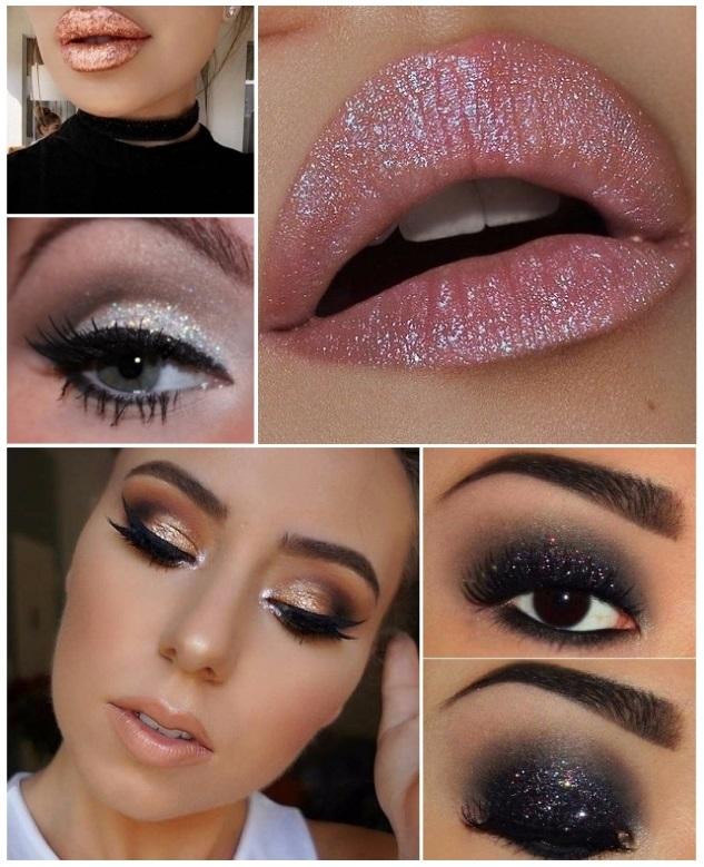 ideas de maquillaje para año nuevo