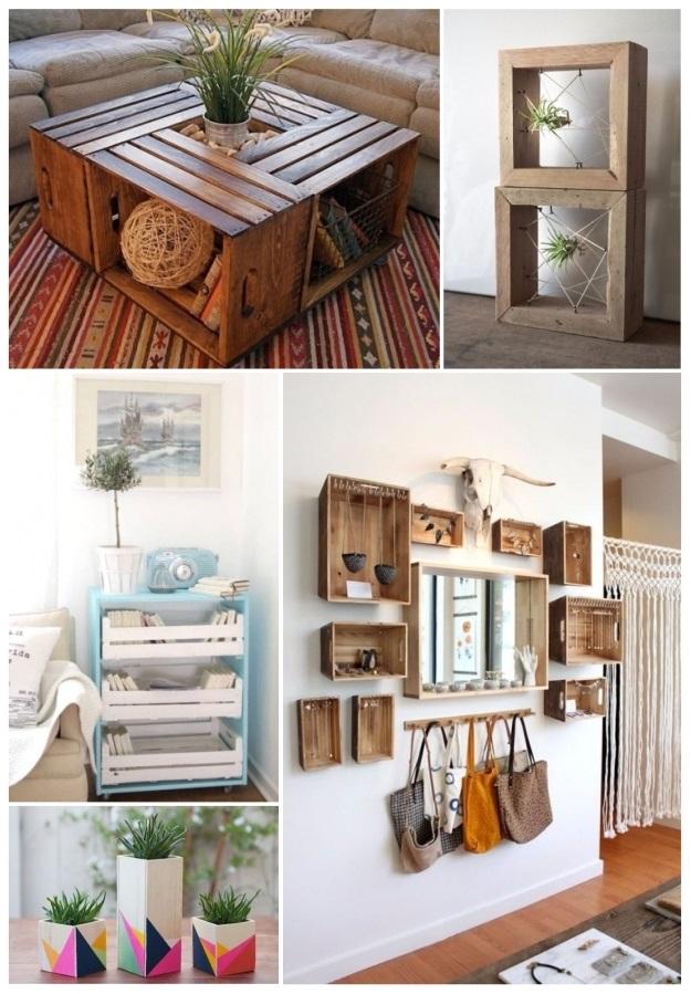 Como decorar tu casa con cajas de madera 30 ideas diy - Caja fruta decoracion ...