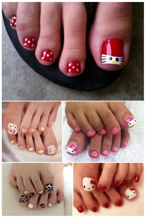 figuras en uñas de hello kitty
