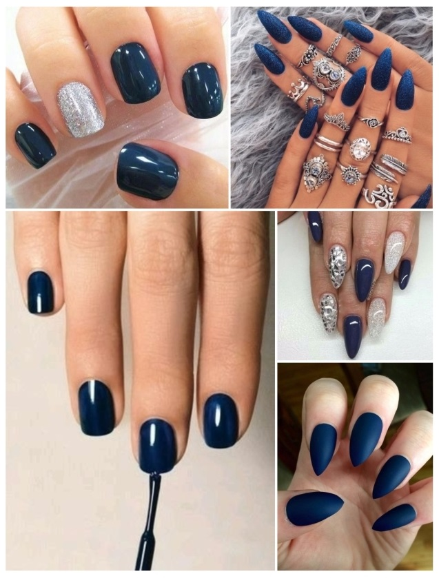Decoración De Uñas Azules 50 Diseños Fáciles Y En Distintos Tonos