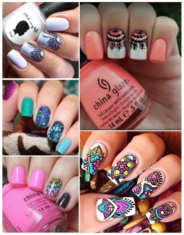 Uñas decoradas con mandalas: ¡Diseños fáciles y coloridos!