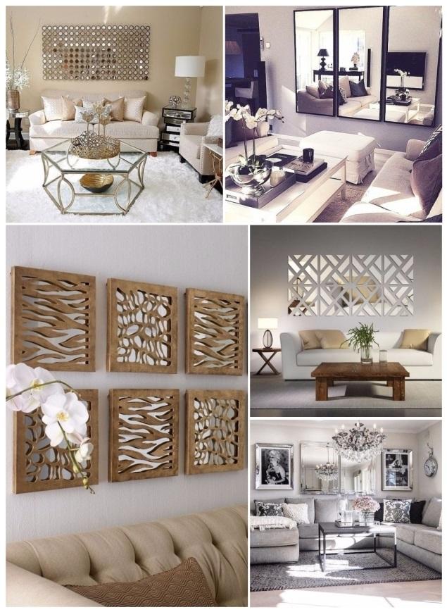 Decorar con espejos 40 preciosas ideas para tu hogar Decoracion de salas con espejos en la pared