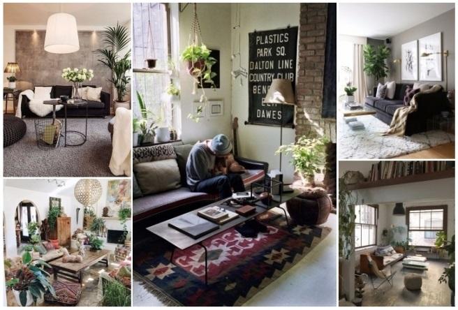 decorar salon con plantas naturales