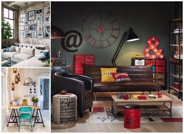 muebles y decoración estilo industrial