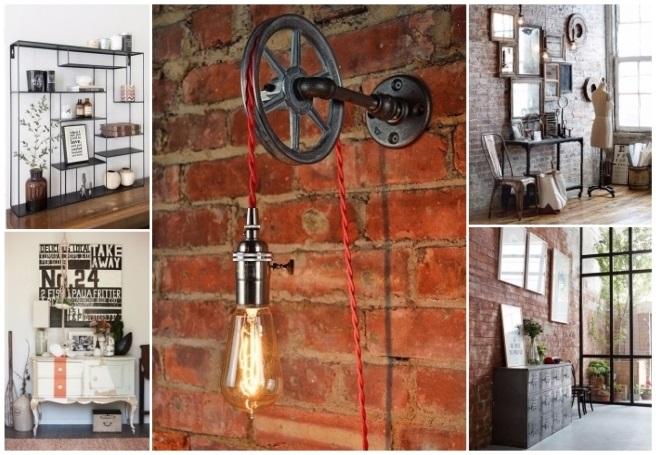 decoración estilo industrial moderno