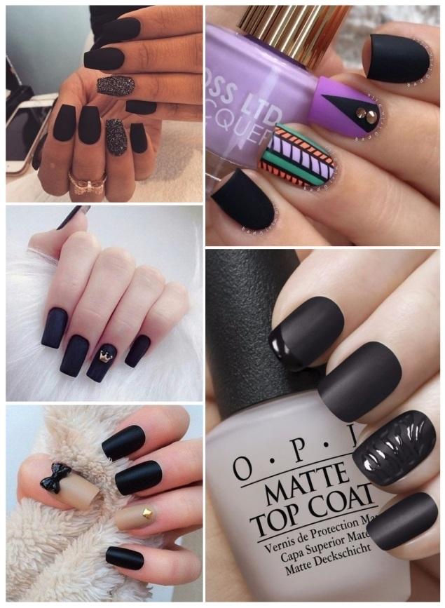 decoracion de uñas doradas y negras