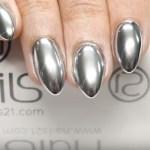 imágenes de uñas decoradas en plata