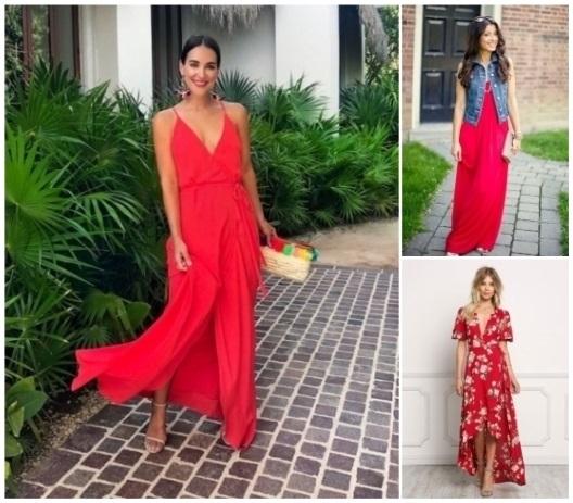 COMO COMBINAR UN VESTIDO Combina el vestido segun su color