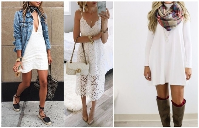 Vestido blanco largo como combinar